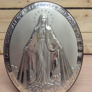 """Quadro in radica e argento """"Miracolosa"""" fatta a mano prodotto Italiano ,da muro/tavolo cm.20x25.5h"""
