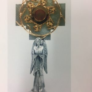 reliquiario angelo fusione dotato 35x16