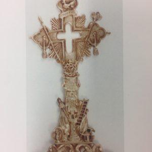 reliquiario fusione croce oro 36x16