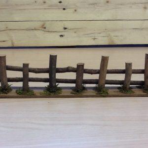 Staccionata in legno fatta a Mano cm.35x4.5x8h
