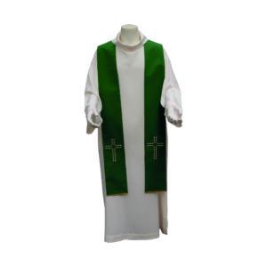 stola verde croce operata