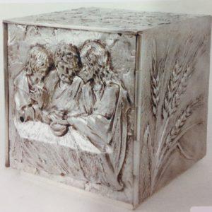 tabernacolo cena emaus inciso su tutti i lati 30x30x30