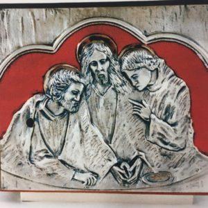 tabernacolo cena emaus smalti rossi 25x25x25