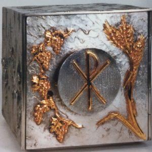 tabernacolo con porta esposizione bicolore 20x20x20