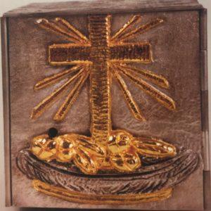 tabernacolo da appoggio porta croce cesto pane 18x18x18