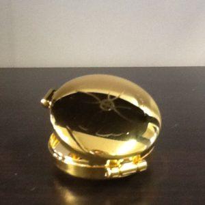 Teca in ottone dorato diametro cm.4