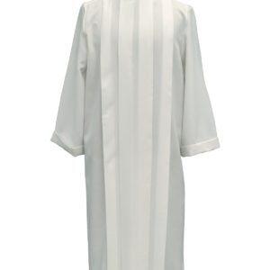 tunichetta/vestina quattro piegoni 100%poliestere bianca