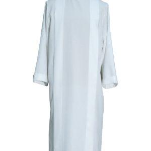 tunichetta,vestina,piegoni collo risv.100%poliestere bianca