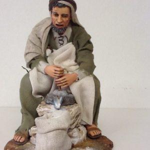 Uomo con macina in resina rifinito a mano abiti in stoffa cm30