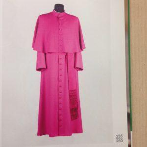 vesta talare in sallia di pura lana 100% con fascia e mozzetta