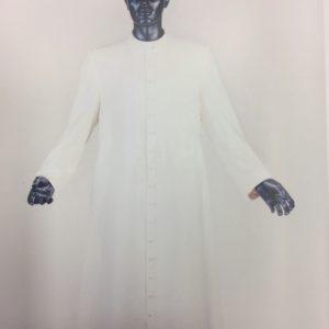 veste talare bianca 100%lana