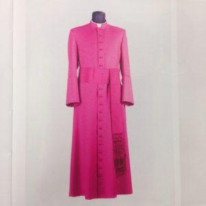 veste talare in sallia di lana 100% con fascia